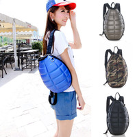 Wholesale Grenade Backpacks - Tide Cool PU backpack creative grenade package turtle shell backpack for children and adults large-capacity backpack