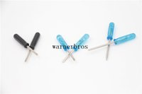 Wholesale cell phone screws resale online - Slotted straight screw driver mini phillips cross head Flathead Screwdriver repair hand Tools Cell Phone camera RDA e cigarette screwdrivers