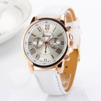 Wholesale Hot Cheap Leather Dresses - 2016 Hot Geneva Watch Leather Quartz For Women Dress Wristwatches Classical Sport Men Cheap Female Casual Watches XR740