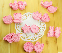 Wholesale Cute Fondant Cookies - Wholesale DIY Cute Cartoon Shape Mold Sugar Arts Set Fondant Cake Tools Cookie Cutters Cake Mold Kitchen Tools