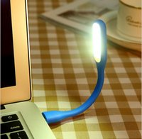 Wholesale Micro Usb Generic Cable - Flexible USB LED Eye-protection Light Micro Generic USB Cable Bendable Light Lamp for Notebook PC USB Power Tablet