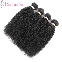 Wholesale Short Kinky Curly - peruvian hair weave 4 bundle kinky curly human hair short human hair extensions peruvian hair kinky human hair extension Top Quality