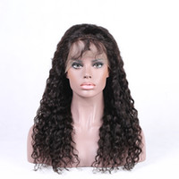 Wholesale Hand Poured - Cheap Virgin Kinky Curly Human Hair Wigs Peruvian Pour Color Lace Front Wigs for Short Hair & Full Lace Curls Wigs for Sale