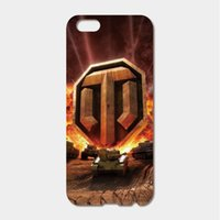 Wholesale Iphone 5c Game - For iPhone 6 6S 7 Plus SE 5S 5C 4S iPod Touch 6 5 case Hard PC world of tanks game Phone Cases