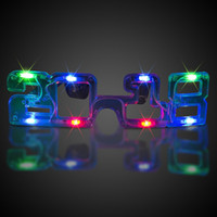Wholesale Toy Dancing Flash - LED glow glasses 2018 Flash glasses Toy dance Light Up Led flashing glasses Halloween Christmas Birthday Party Eyewear