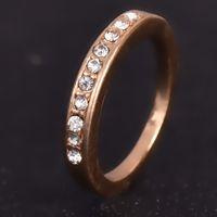 Wholesale Diamond Single Row - 2016 New Fashion Hot-Selling Korean Jewelry Fashion Simple Single Row of Small Imitation Diamond Ring