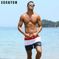 Wholesale xxl board shorts - 2017 New Quick Dry Escatch Summer mens Beach board shorts surf siwmwear bermudas swim shorts for Men Athletic mens gym shorts
