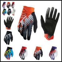 Wholesale fox racing xl - FOX MTB Racing Gloves 5 Colors Winter Motocross Dirtpaw Rockstar Full Finger Protective Gear for Men Women