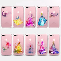Wholesale Painting Apples - Beautiful Snow White Princess TPU painting cell phone Case For iPhone 5S 6S 7 Plus case ultra thin soft TPU back silicone phone cover shell