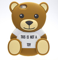 casos de urso 3d venda por atacado-3d animais dos desenhos animados bonito brinquedo brown teddy bear silicone case para iphone 4s / 5 5s / se / 6/6 mais s3 / s4 / s5 / s6 / j5 / note3 / 4 / e5 / 7 / a5 / a7