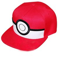 Wholesale Ladies Dress Hats Wholesale - Cartoon Poke mon ball Cosplay Cap Red Novelty Anime Pocket Monster ladies dress Poke Hat charms Costume Baseball cap