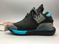 Wholesale Vista Black - Y-3 QASA RACER High red Vista Grey Sneakers Breathable Men and Women Running Shoes Couples Y3 Outdoor Trainers Size 5-12 Free shipping