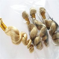 Wholesale Eurasian Loose Wave - 613 Bleach Blonde Eurasian Hair Loose Wave Eurasian Human Hair Weave Bundles SOFT THICK Tangle Free Hair Extension
