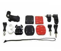Wholesale vertical mount - Safety Starp+Curved Flat Sticker+J Hook Mount+Buckle Mount+Long Short Vertical Hinge+Rubber Lock+Screw For Gopro Hero6 black 5 4 3 2 SJCAM