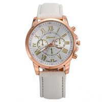 Wholesale Colorfull Glasses - New leather band Watch PU Wristwatch for Woman Xmas Gift Quartz watch colorfull to chose best price watch 0013