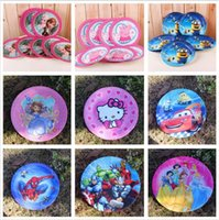 Wholesale Despicable 9inch - new 10pcs set kid favorite Despicable Me The Avengers Frozen Superman 9inch plate for kid birthday wedding Festerval party decor6