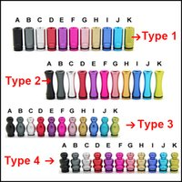 Wholesale E Cigarettes Mouth Pieces - Colorful Aluminium drip tip 510 drip tips mouth piece for 510 clearomizer ecig RDA atomizer RTA e cigarette