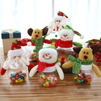gemi şeker kavanozları toptan satış-Yeni Noel şeker kavanoz küçük yuvarlak yıldız şekilli bebek şeker kutusu ücretsiz kargo