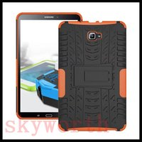 Wholesale Galaxy S2 Hard Cover - Rugged Stand Rubber Shockproof Hybrid Hard Case Cover For Samsung Galaxy tab 4 S S2 E T560 T580 T810 ipad pro 9.7