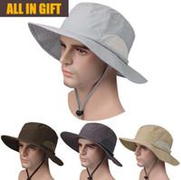 Wholesale Hat Custom Man - 2017 The new Outdoor fisherman hat factory custom quick-drying sun hat anti-UV men and women fishing hat sunscreen A-01368