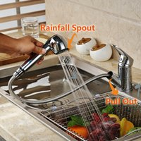 Wholesale pull out kitchen faucets - Luxury Pull Out Kitchen Faucet Deck Mount Kitchen Water Taps with Hot and Cold Water Single Handle