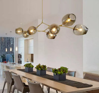 Wholesale rustic chandelier lighting - Lindsey Adelman Chandeliers lighting modern lamp novelty pendant lamp natural tree branch suspension Christmas light hotel dinning room