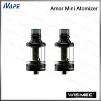 Wholesale Clearomizer Detachable Bottom - Wismec Amor Mini Atomizer 100% Original 2ml Capacity Top Filling Bottom Airflow Control Tank Detachable Structure Clearomizer Easy Cleaned