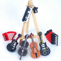 Wholesale Guitar Usb Flash Memory - Super Concert Pen Drive Musical Instrument 8GB 4GB 2GB 1GB 16GB USB Flash Drive Flash Memory Stick Pendrive Piano Guitar Cello Volin
