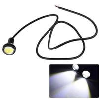 kartal lambası toptan satış-Park lambası 23mm Kartal Göz led araba ışıkları DRL Gündüz Koşu Işık 12 V 9 W Sis Kuyruk lambası Su Geçirmez Ters Lamba