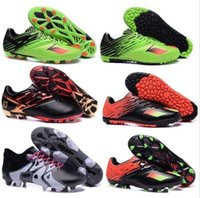 Wholesale Original MESSI FG AG Soccer Cleats Shoes MESSI TF Football Boots X15 Primeknit Mens Authentic Athletic Sport Ace Shoes