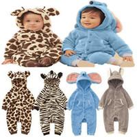 süße babykleidung großhandel-AbaoDo neue Art und Weise Tier Design Baby Strampler süße süße Pyjama Kinder Bodysuit Langarm Kinder Kleidung tragen Drop Shipping