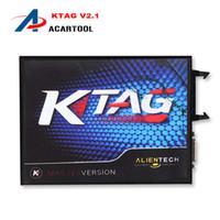 Wholesale Free Programming Tools - 2018 Newest KTAG V2.13 K-TAG ECU Chip Tunning Master Version K-TAG K TAG ECU Programming Tool DHL Free Shipping