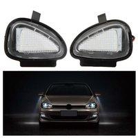 ayna pasatosu toptan satış-20 Pair / grup LED Yan Ayna Lambaları Altında VW Golf 6 Cabriolet Passat için (B7) Touran Ücretsiz kargo