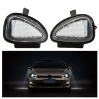 Wholesale volkswagen golf white - 20Pair LOT LED Under Side Mirror Lamps for VW Golf 6 Cabriolet Passat (B7) Touran Free shipping