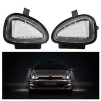 Wholesale Vw Touran Wholesale - 20Pair LOT LED Under Side Mirror Lamps for VW Golf 6 Cabriolet Passat (B7) Touran Free shipping