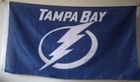 Wholesale Hockey Banner - Tampa Bay Lightning Flag 90 x 150 cm Polyester USA Hockey Stars And Stripes Banner