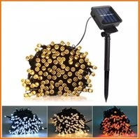 Wholesale Outdoor Solar Christmas Lights Ice - Christmas led string 100 LED 200 LED Outdoor 8 Modes Solar Powered String Light Garden Christmas Party Fairy Lamp 10m 22M