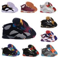 calçados de basquete online frete grátis venda por atacado-Alta Qualidade Original 7 Das Mulheres Dos Homens de tênis esportivos Sapatos de Basquete Online Atacado Vendido EUA Tamanho 5.5-13 Frete Grátis
