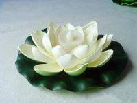 yapay lotus dekorasyonu toptan satış-Yapay LED Mum Renkli Değişen Işıklar Ile Yüzer Lotus Çiçek Doğum Günü Düğün Parti Süslemeleri Malzemeleri Süs Için