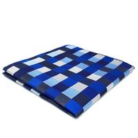ingrosso vestiti di controllo blu-KH2 Hanky Checked Blue Silver Black Fazzoletto da uomo Cravatta Jacquard intrecciata con tasca tessuta regalo