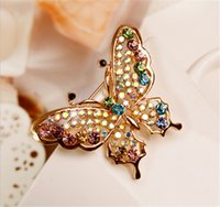 Wholesale Asian Hijab Wholesalers China - Christmas butterfly Scarf Buckle Esmalte De Unhas Brooch Broches Wedding Bouquet Vintage Wedding Hijab Scarf Pin Up Buckle Broches XZ90
