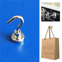 Wholesale Hangers Magnets - 16mm Magnetic Powerful Hooks Hanger Magnets Neodymium Magnet Salvage Tool