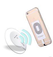 Wholesale Qi Charger Sticker - Qi Wireless Charging Receiver for Apple Iphone 7 7P 6P 6 6S 5 5S 5C 5SE Wireless Charger Receiver Sticker Film