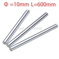 Wholesale X Axis Linear - Wholesale- 2pcs 10mm 10x600 linear shaft 3d printer 10mm x 600mm Cylinder Liner Rail Linear Shaft axis cnc parts