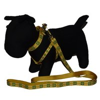 Dog Harness Dog Chest Back Dog Guinzaglio e collare regolabile Slip Training Chain per cani Collana catarifrangente primavera / autunno G-001