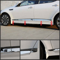 Wholesale chrome door trim - ACCESSORIES Chrome Body Door Side Molding Cover Trim 8pcs set For Kia Optima K5 2011-2014