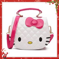 Wholesale Girls Handbags Purses - Christmas Gift Kids Purse Cat Children Cartoon PU leather Bag Crossbody Single Shoulder Bag Handbag Baby Mini Bag Cute Design