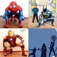 3D Standing Avengers Alliance Spiderman Palloncino Foil batman super eroe ballons Per Bambini Regalo di compleanno iron man Party Decor
