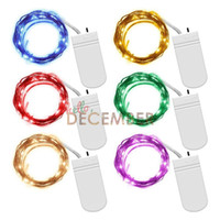 Wholesale 3m Battery Powered Fairy Lights - 10 LEDs M 2M 3M 4M 10M Battery Powered LED String Lights 8 Modes Decoration Lighting LED Fairy Micro Light Strings