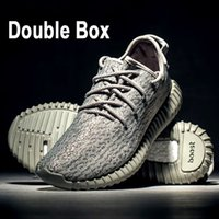 Wholesale Canvas Winter Tennis Shoes - Top 350 Boost Walking Shoes,Double Box Kanye West 350 Shoes Moonrock+Turtle Dove+Pirate Black+Oxford Tan,Best sell Sneaker Shoes